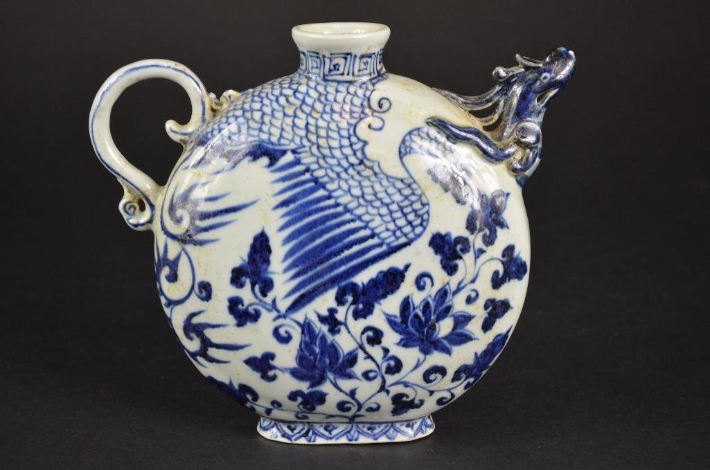Chinese Blue & White Tea Pot