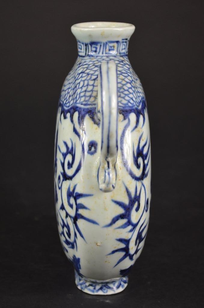 Chinese Blue & White Tea Pot - 4