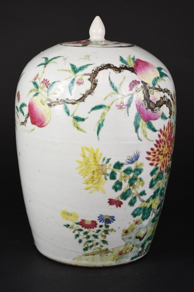 Chinese Famille Rose Porcelain Ginger Jar - 4