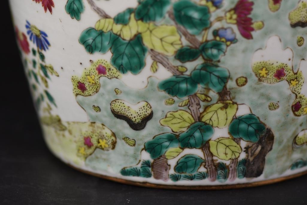 Chinese Famille Rose Porcelain Ginger Jar - 9