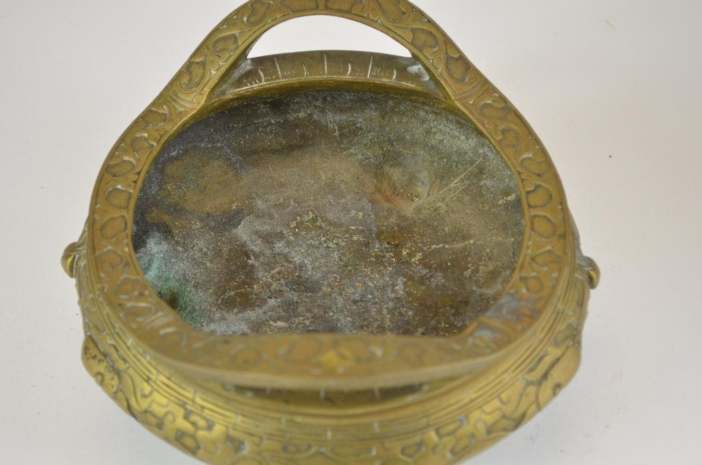 Chinese Bronze Tripod Censer - 5