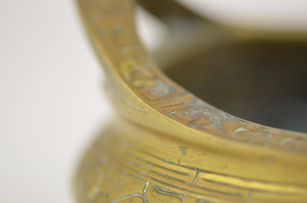 Chinese Bronze Tripod Censer - 7