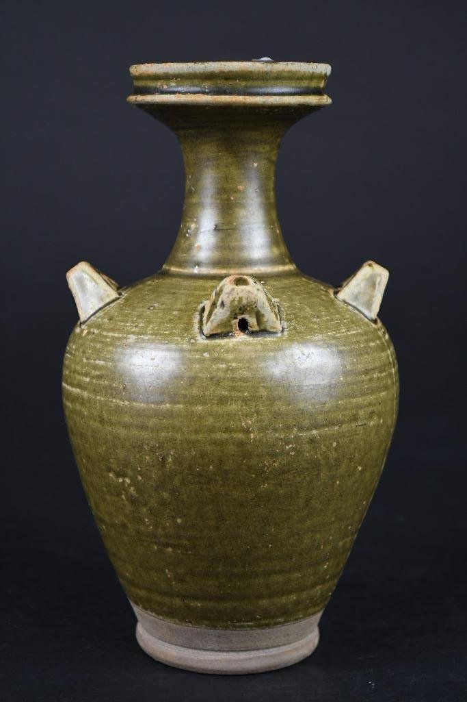 Chinese Tea Dust Glaze Vase - 2