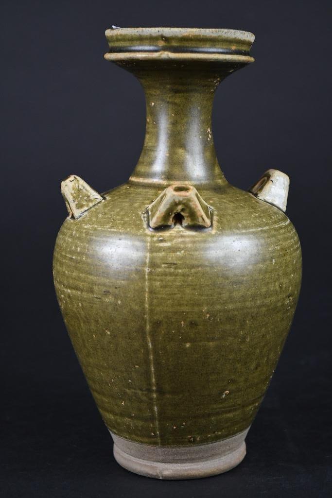 Chinese Tea Dust Glaze Vase - 3