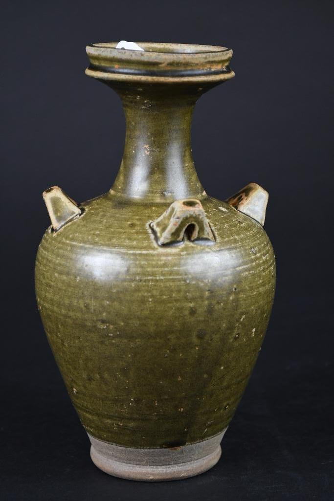 Chinese Tea Dust Glaze Vase - 4