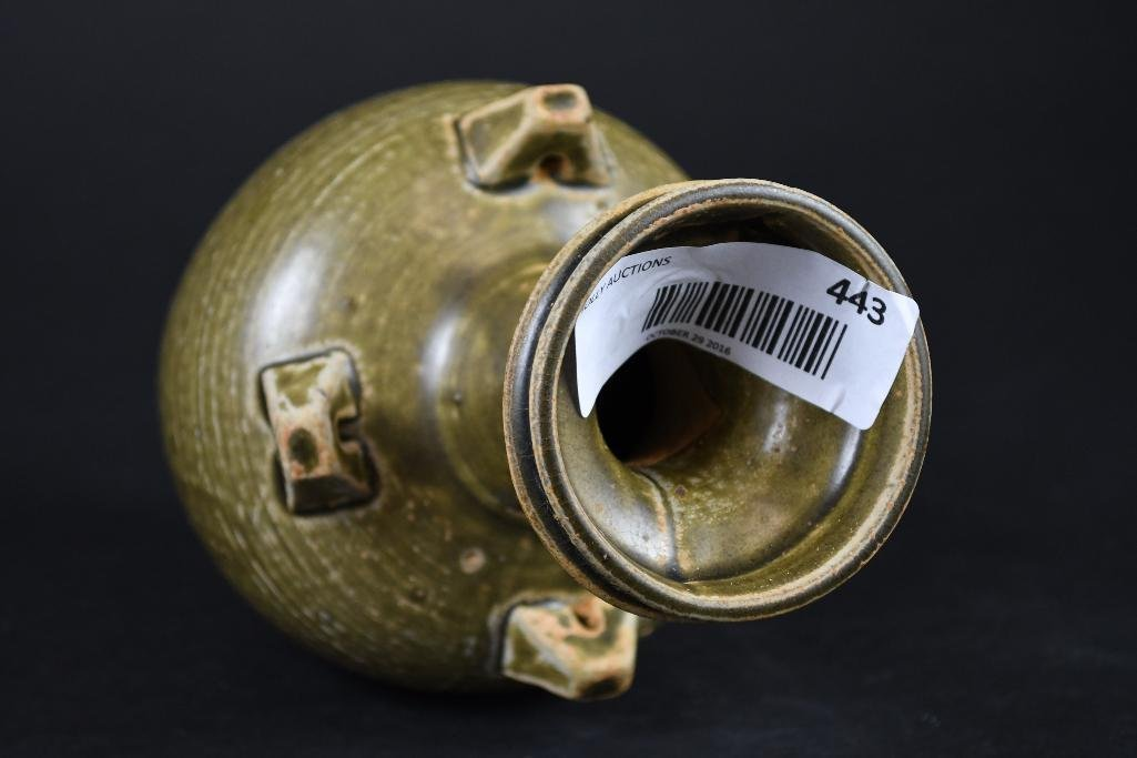 Chinese Tea Dust Glaze Vase - 6