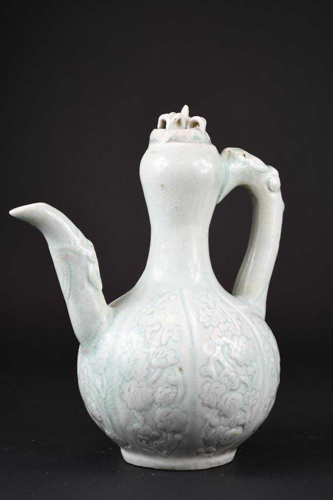 Chinese Pale Celadon Glaze Spouted Ewer