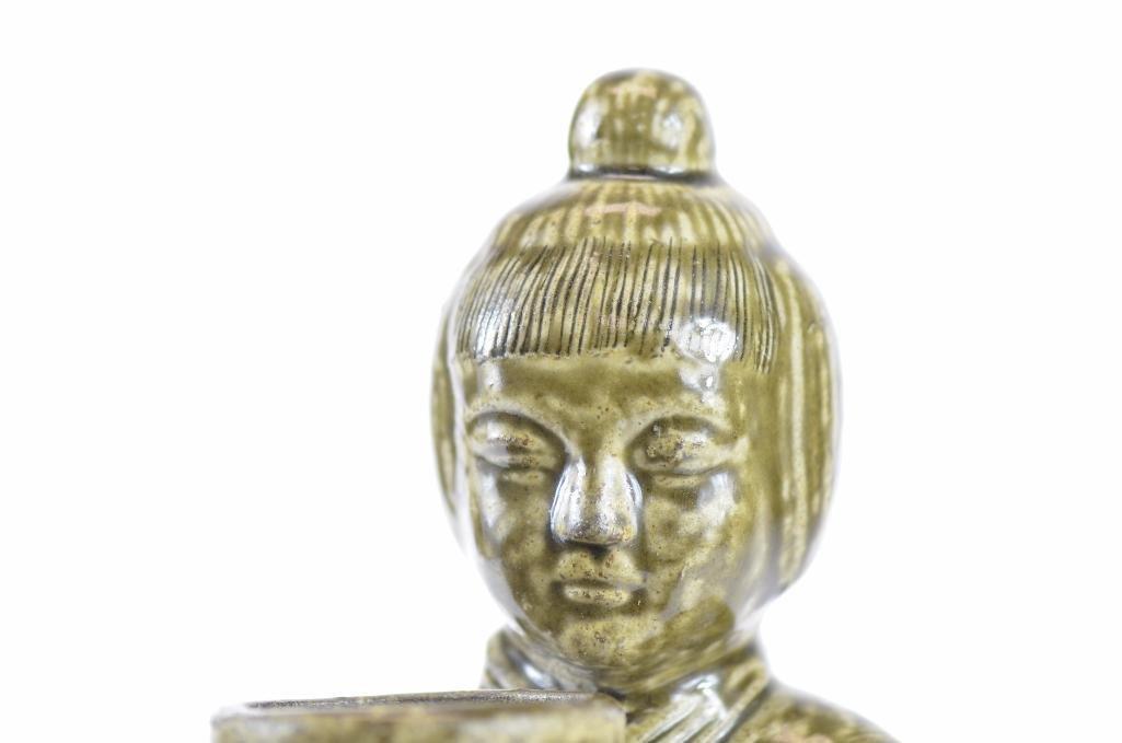 Chinese Tea Dust Glaze Porcelain Standing Lohan - 6