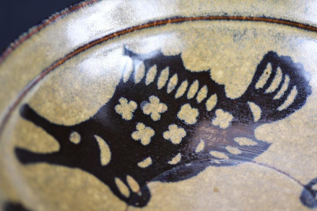 Chinese Brown Glaze Fish Bowl - 7