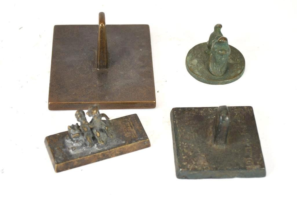 Lot of Four Chinese Bronze Stamp Seals