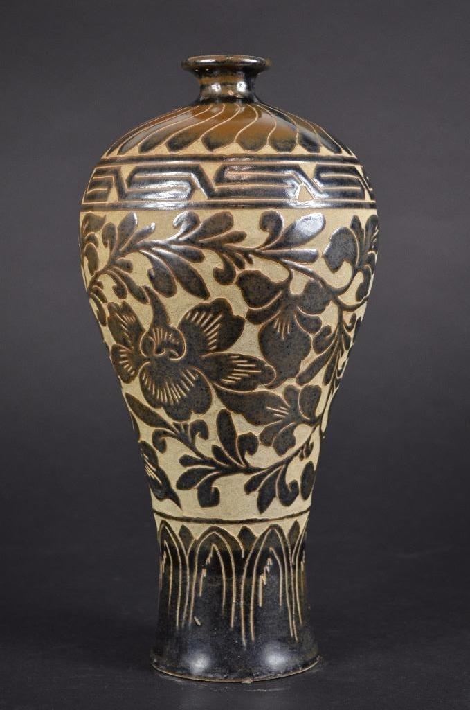 Chinese Cizhou Ware Vase - 4