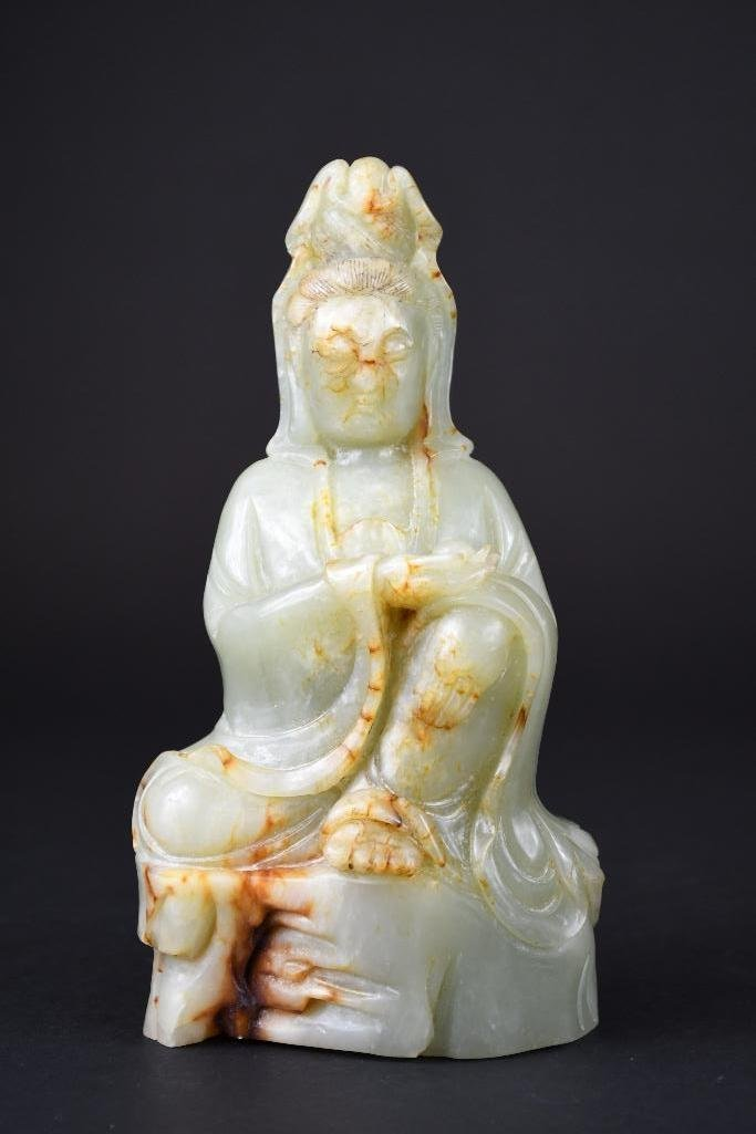 Chinese Carved Jade Guan Yin