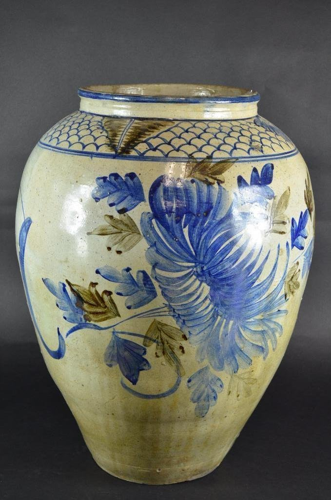 Large Korean Underglaze Blue Vase
