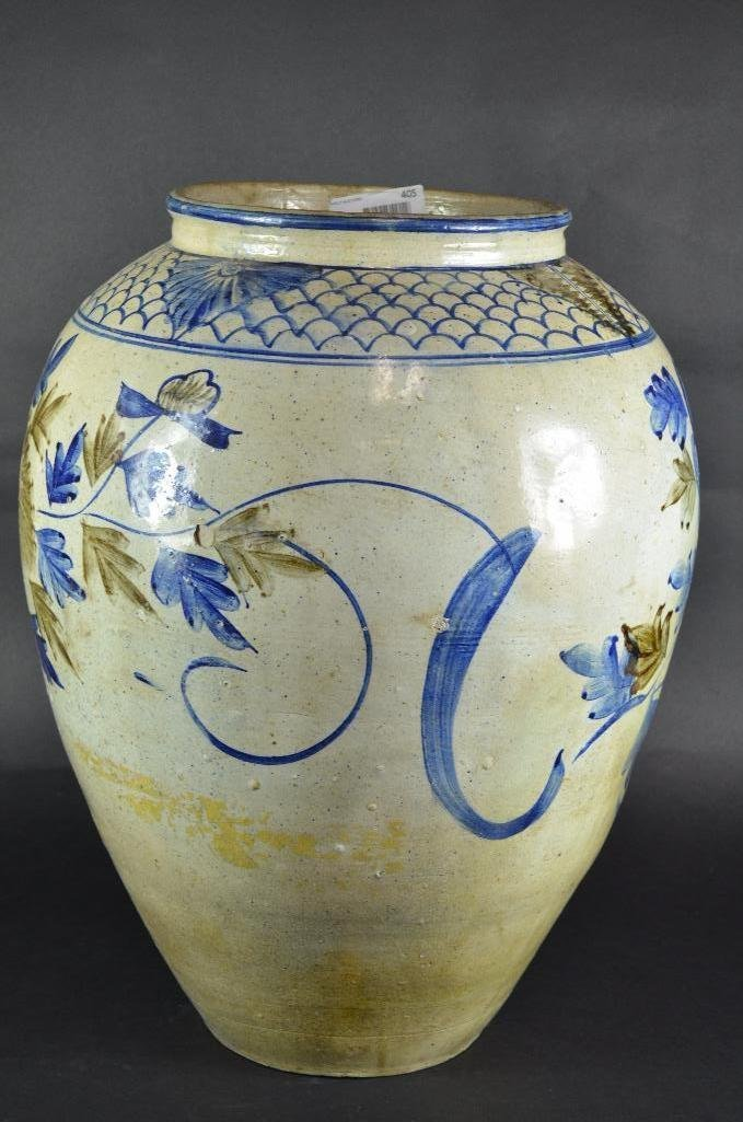 Large Korean Underglaze Blue Vase - 2