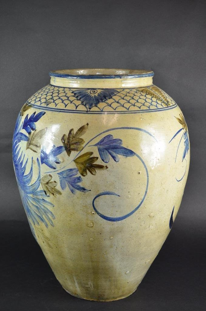 Large Korean Underglaze Blue Vase - 3