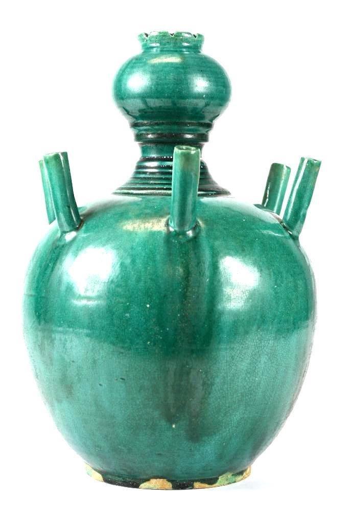 Chinese Green Glaze Incense Burner