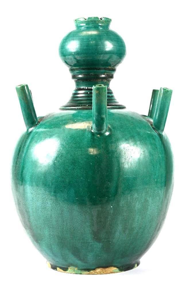 Chinese Green Glaze Incense Burner - 2