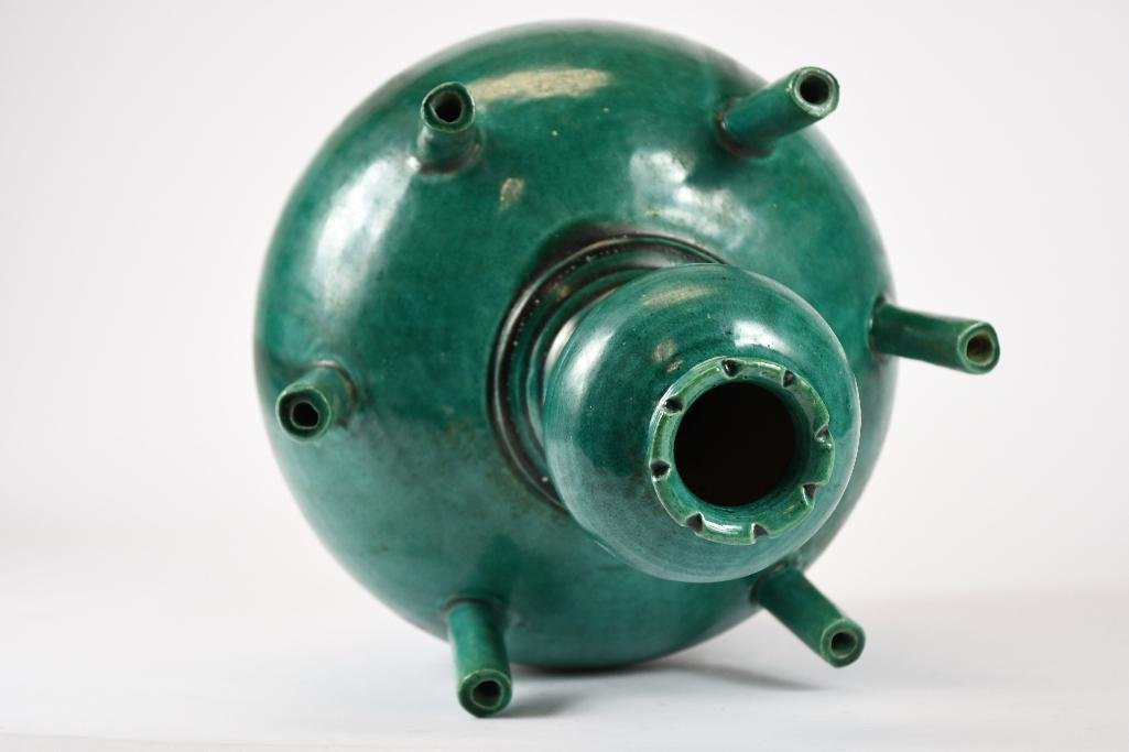 Chinese Green Glaze Incense Burner - 5