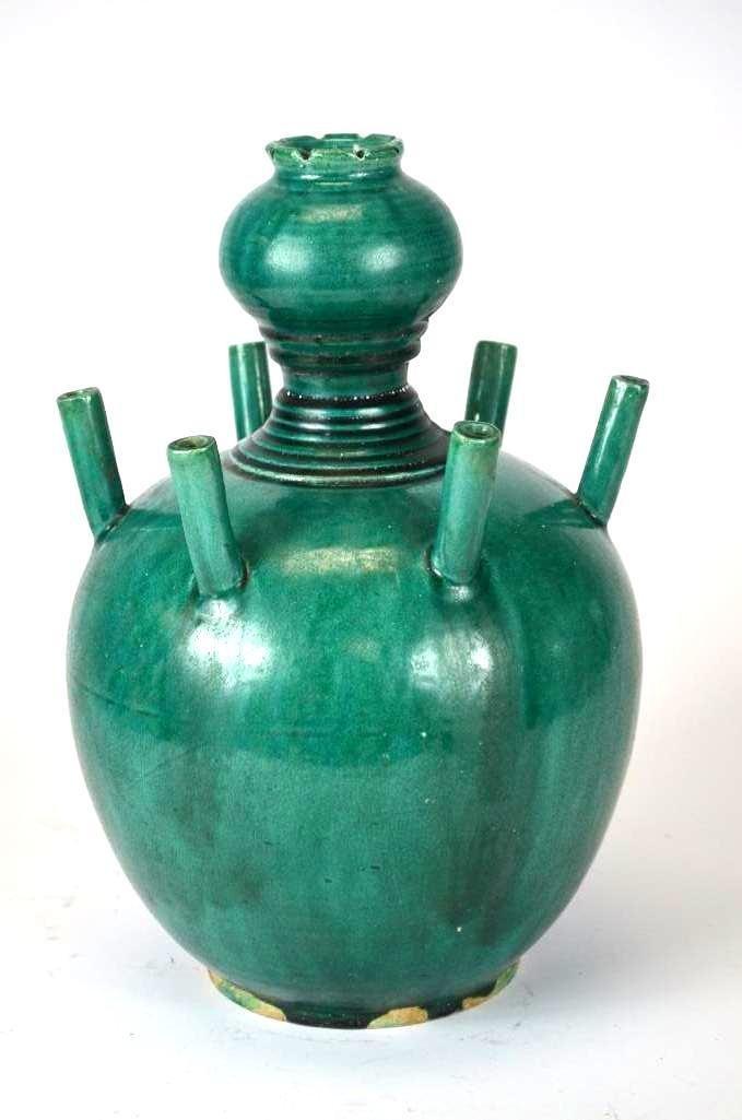Chinese Green Glaze Incense Burner - 7