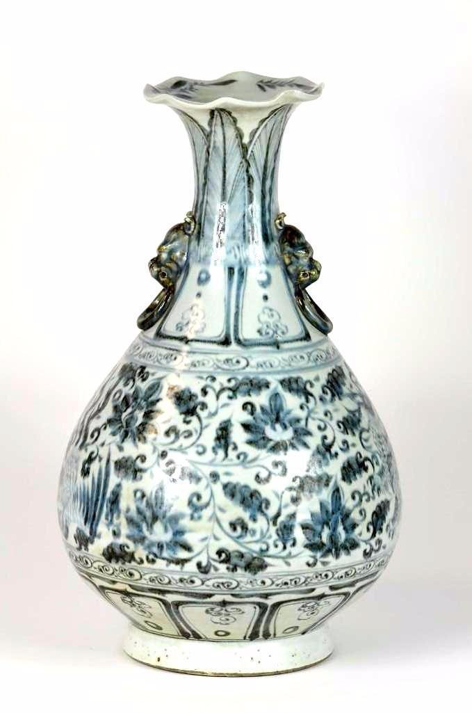 Chinese Blue & White Pear Shape Vase