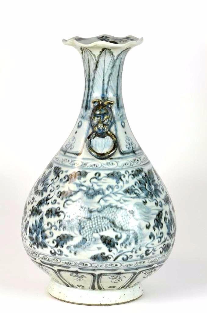 Chinese Blue & White Pear Shape Vase - 2
