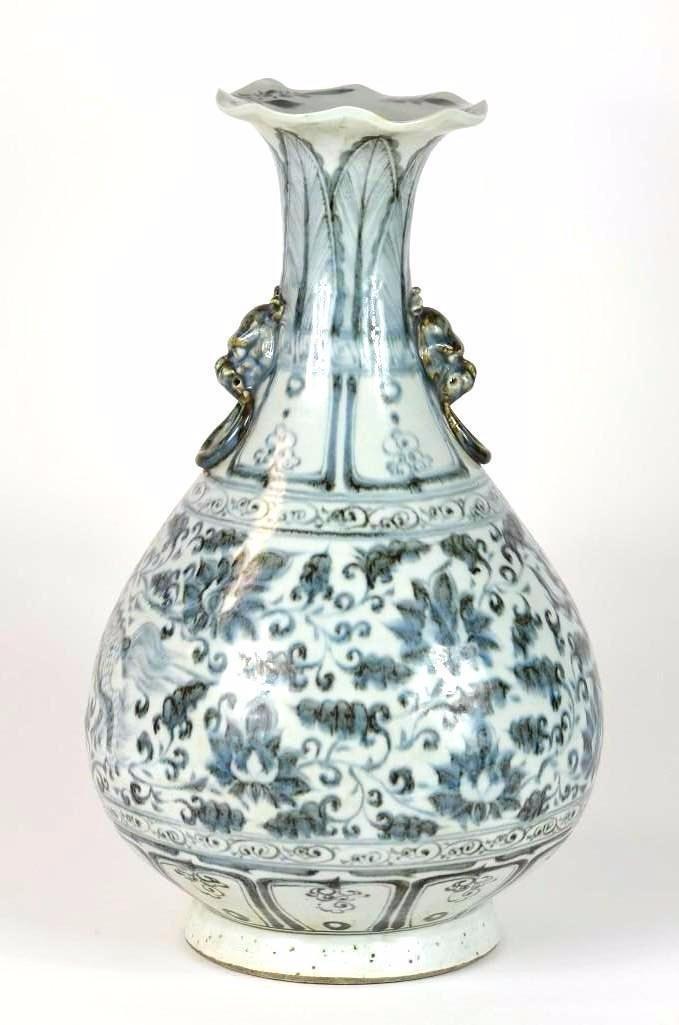 Chinese Blue & White Pear Shape Vase - 3