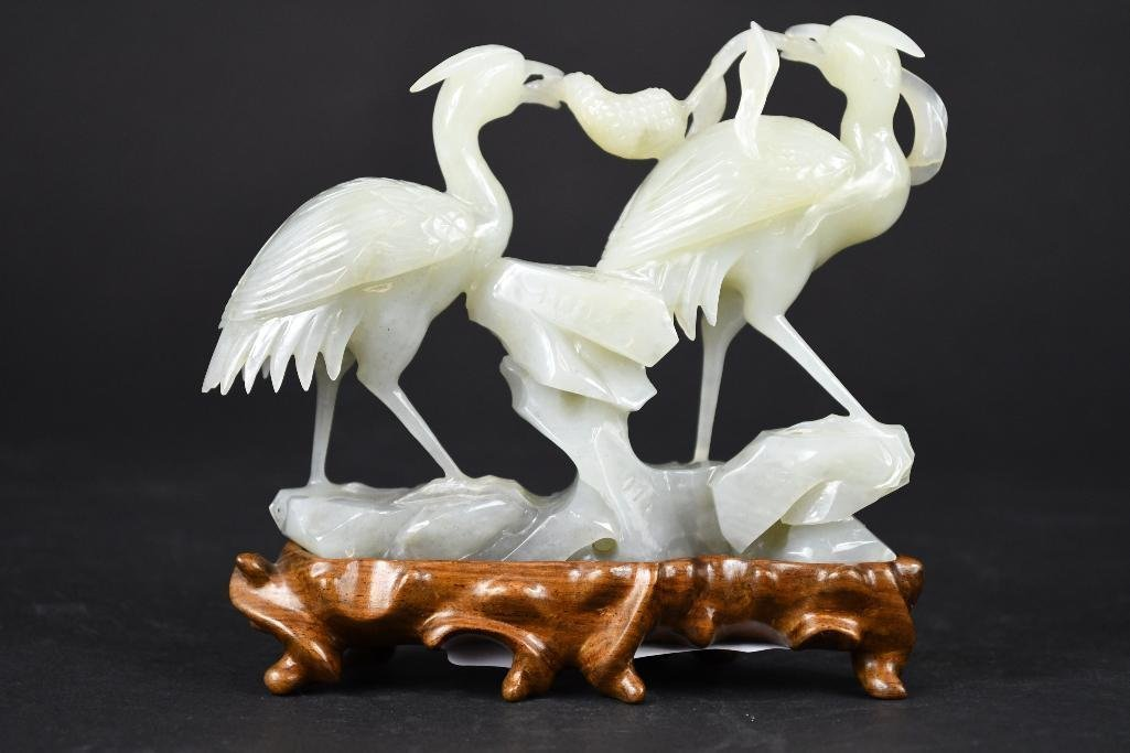 Chinese Jade Group of Birds - 3
