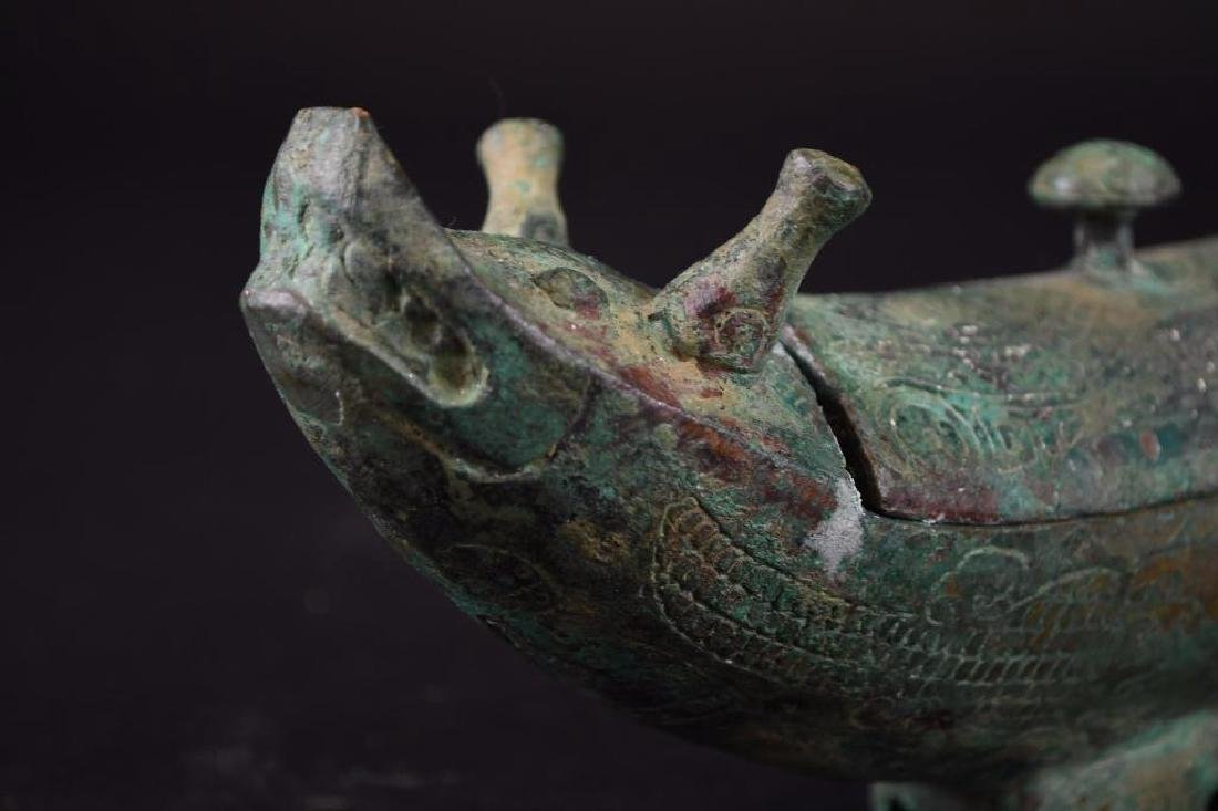 Chinese Bronze Wine Vessel - 5