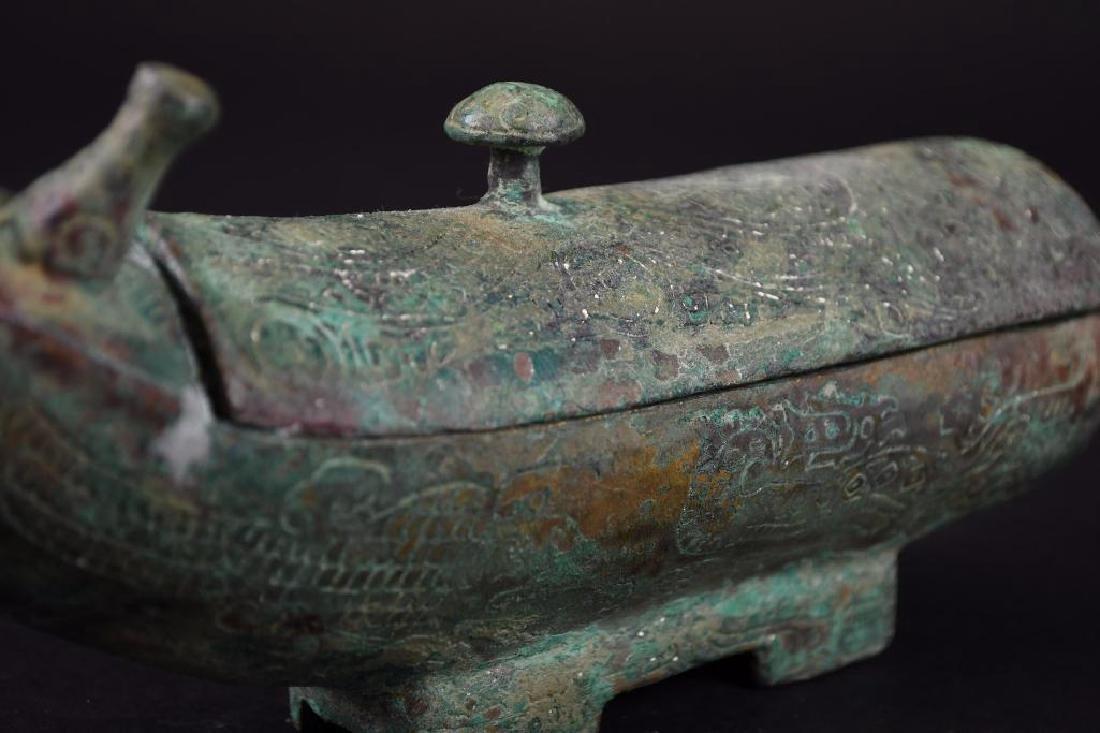 Chinese Bronze Wine Vessel - 6