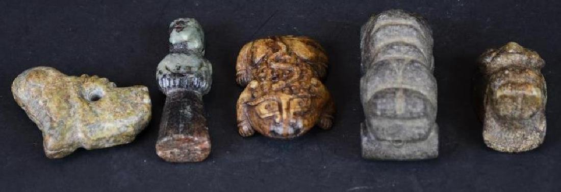 Five Chinese Jade Figures