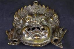 Chinese Bronze Belt Hook Plaque