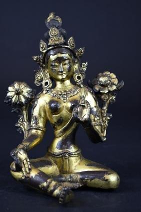 Chinese Bronze Multi-Arm Bodhisattva