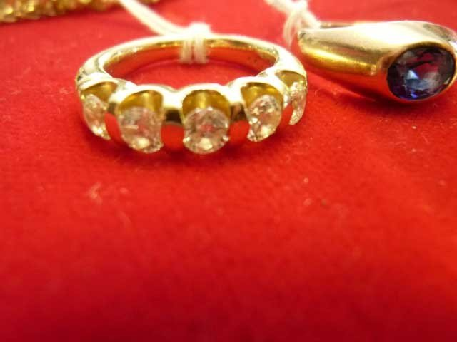 1: Diamond Ring, 14 KY, Five Stones,  SI-1 Clarit