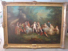 "10: Oil/Canvas ""Blind Mans Bluff"" , Edwin Wensley"