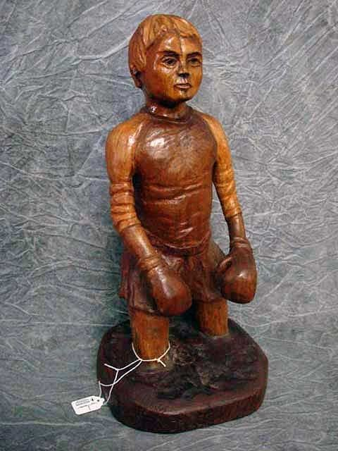 "16: Sculpture-  Wood Carving ""Weekend Athlete""  17"","