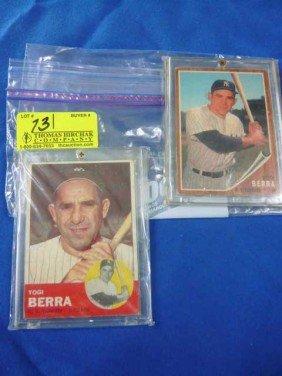 (2) Baseball Cards:  1963 Yogi Berra, 340;