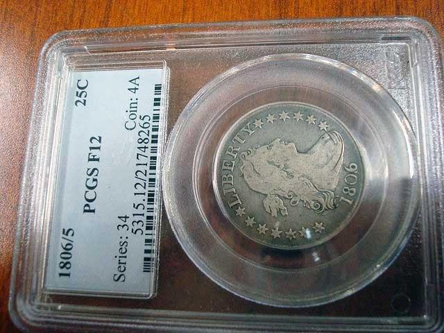 79A: 1806/5 US Quarter Dollar, PCGS F12