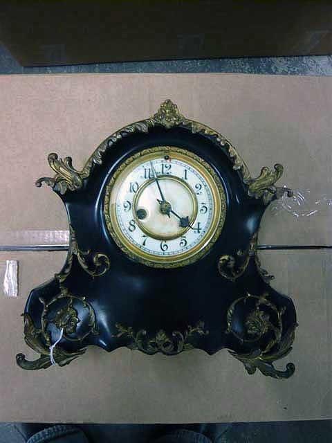 80: Waterbury Clock, patenated Steel Mantle Clock