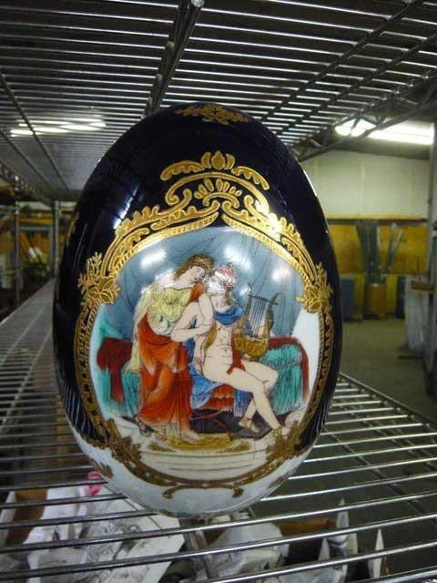 """81: L.F. Fine Porcelain, Limoges Egg, P.R.G. 12"""""""