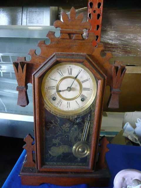 88: Ansonia Clock Co.,  U.S. Gingerbread clock,