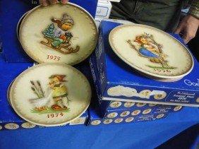 (6) Hummel Annual Plates, 1974, 1975 , 1976,
