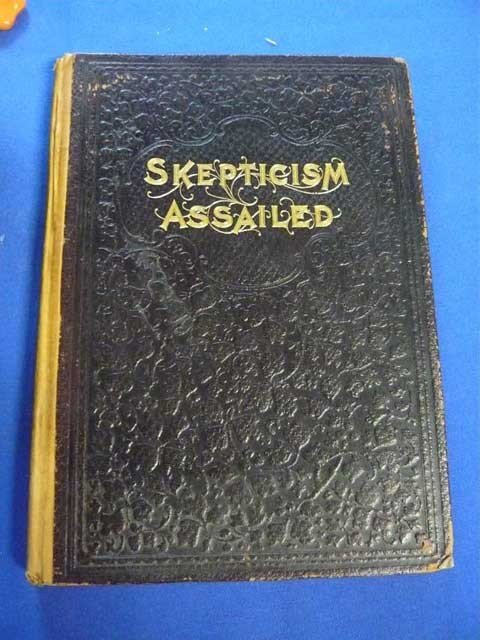 124: Book, Skepticism Assailed, Leather Bound,