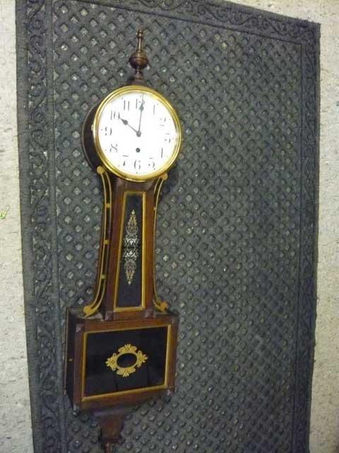 133: Banjo Clock, Waterbury Clock Company, Oak with