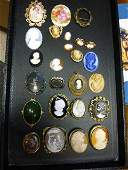 156: Lot of (24) Assorted Cameo's including: Limoges,