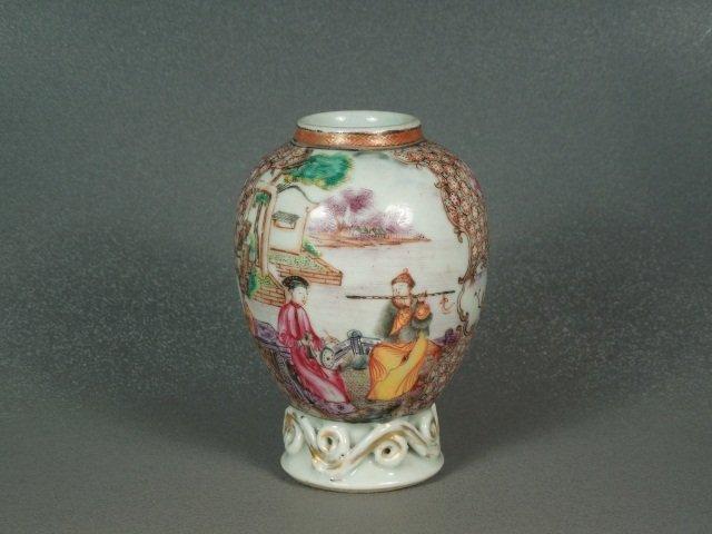1: Chinese 18th Century Mandarin Palette Tea Caddy