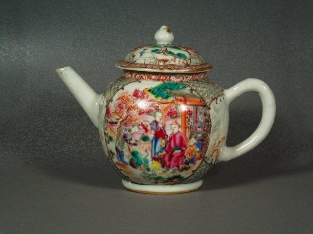 2: Chinese 18th century Mandarin Palette Teapot