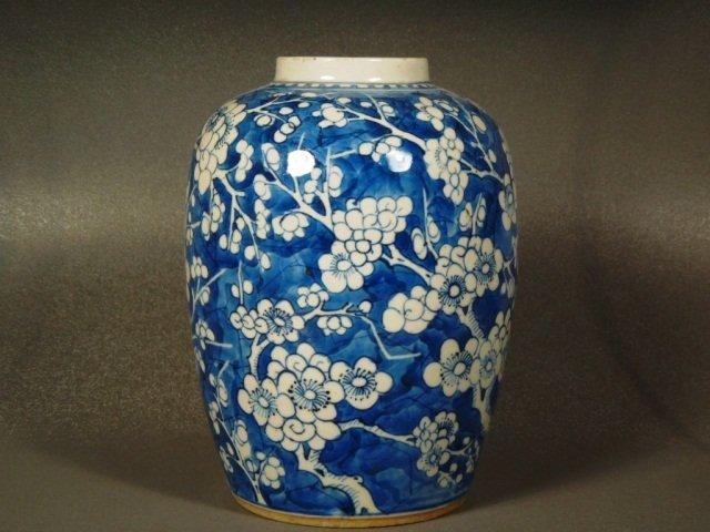 4: Chinese 18/19th century blue and white prunus Jar
