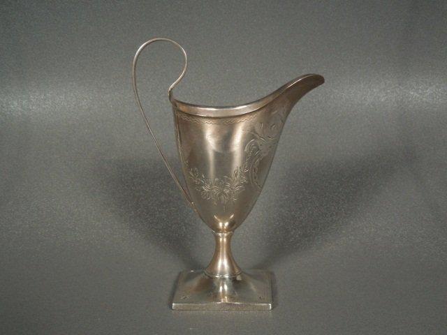 7: George III Silver Cream Jug, Alexander Field,1790