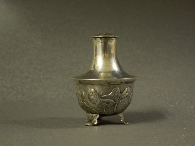 9: Chinese Export Silver Pepperette Wang Hing & Co
