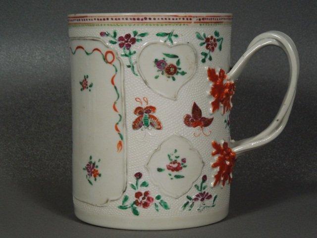 11: Chinese Qianlong Famille Rose Tankard c.1780
